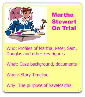 Martha Stewart on trial